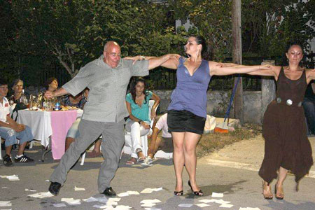 Joe dancing at a wedding, Drama, Greece, 2010