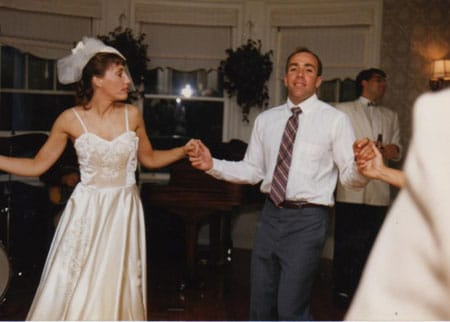 Joe dancing with his sister Corey at her wedding