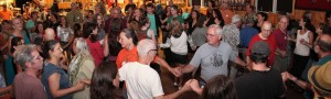 EEFC dance party at Iroquois Springs - East Coast Balkan Music and Dance Camp